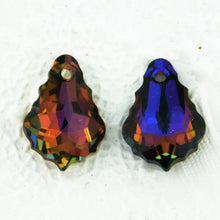 Swarovski #6090 Baroque Pendant 16x11mm Volcano Suncatcher Charm Crystal Sunset Blue Purple Orange Fuchsia