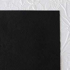 Black Ultrasuede Fabric_Bead Embroidery_8.5x8.5 square
