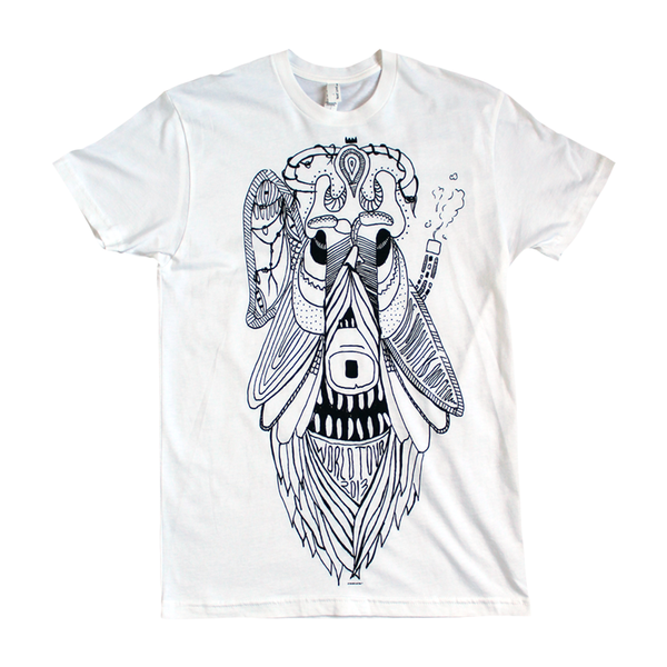 New Monster White Tee