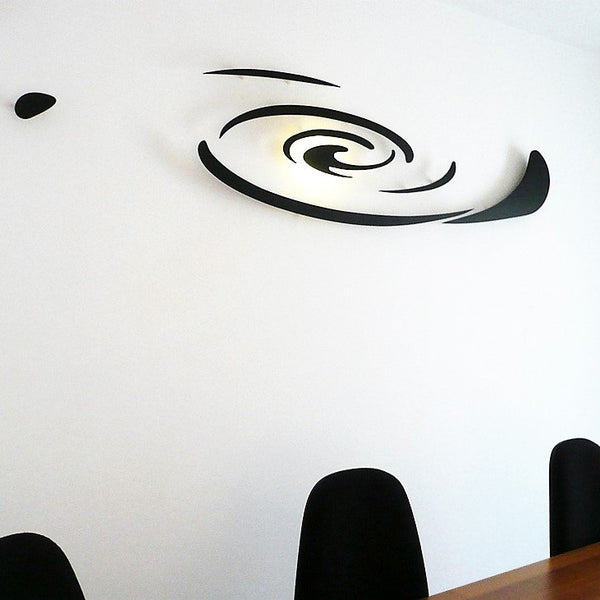 minimaproject andromeda 3d wall art - black in office | ikonitaly