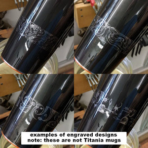 Temperfect Javabliss 16 Travel Mug, Custom Engraved Titania