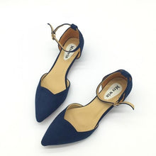 ShoeFits - blue pointy flats women fashion shoes