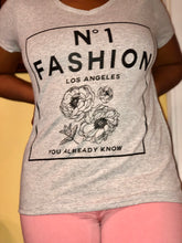 Heather Grey  Fashion  Graphic T-Shirt