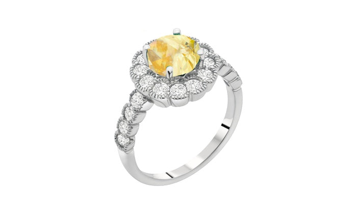 Cindy Flower Statement Ring
