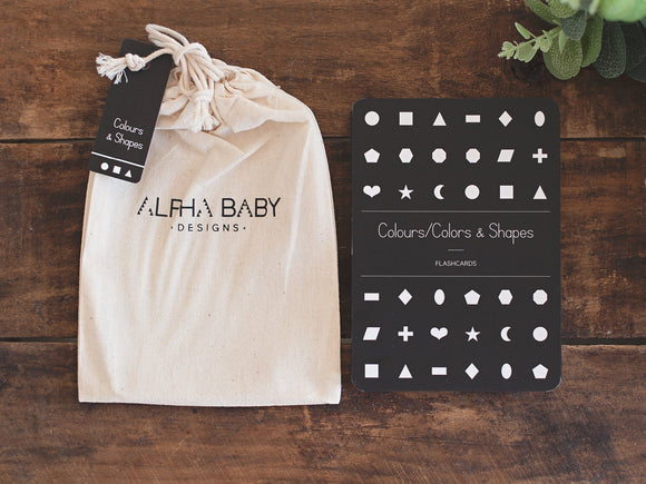 Alpha Baby Designs | Colours & Shapes Flash Cards