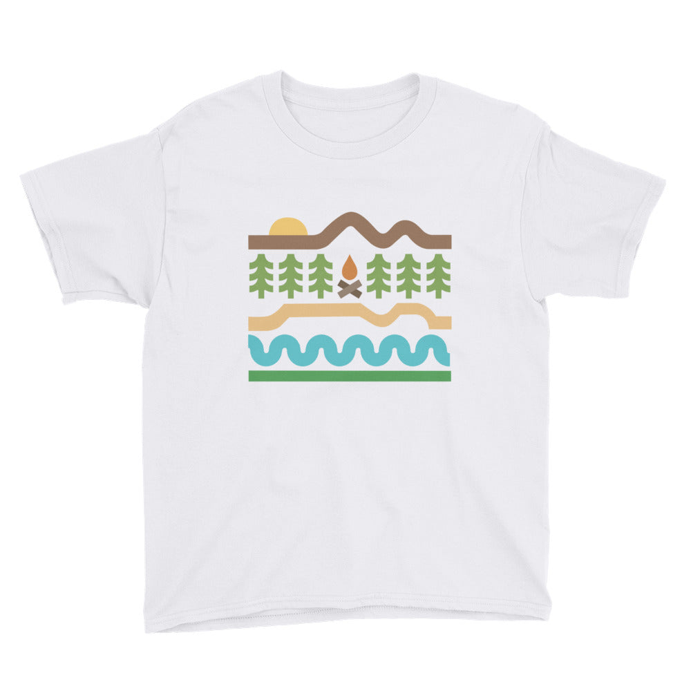 Youth Short Sleeve T-Shirt - Thick Lines