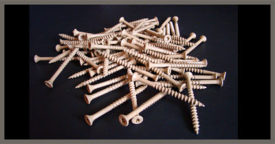 "Case Hard Decking Screws 2-1/2"" long - (1lb)"