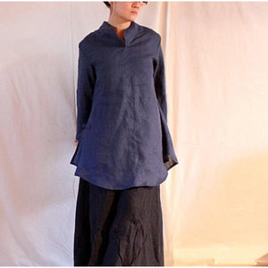 custom handmade Asian blouse with long sleeves