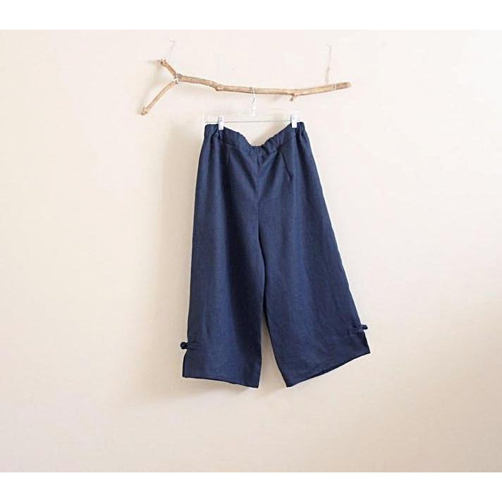 custom linen cropped peasant pants-linen clothing by anny