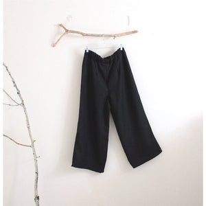 custom simple linen pants-linen clothing by anny
