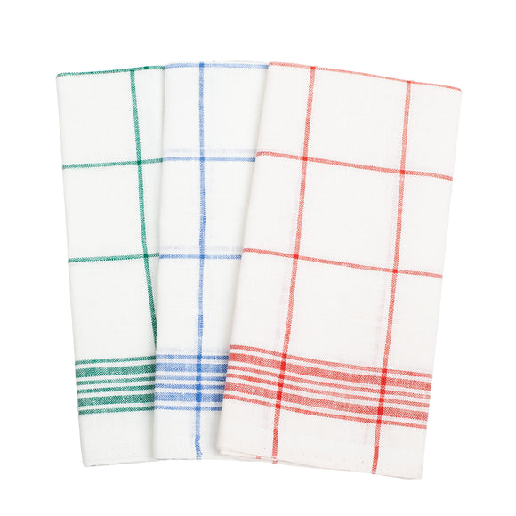 Linen Kitchen Towel Set (3 pcs.) - Checked