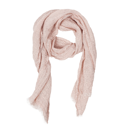 100% Linen Scarf - Pink