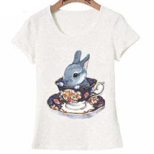 High Tea bunny design fashion T-Shirt