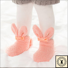 Load image into Gallery viewer, Fluffy Kids Rabbit Socks. (3M-24M)