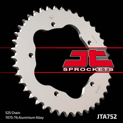 JTA752 Rear Alloy Drive Motorcycle Sprocket 40 Teeth (JTA 752.40)