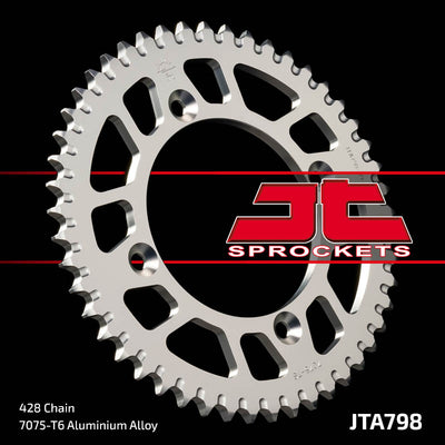 JTA798 Rear Alloy Drive Motorcycle Sprocket 51 Teeth (JTA 798.51)