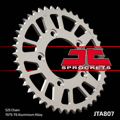 JTA807 Rear Alloy Drive Motorcycle Sprocket 42 Teeth (JTA 807.42)