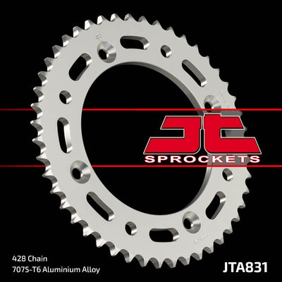 JTA831 Rear Alloy Drive Motorcycle Sprocket 46 Teeth (JTA 831.46)