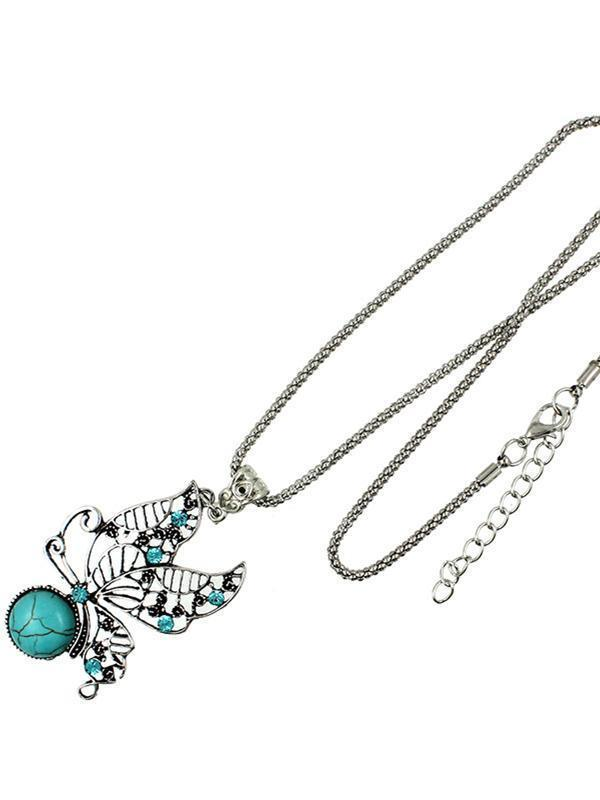 Hollow Butterfly Turquoise Necklaces Accessories