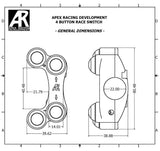 Left, Right Race switch kit  for Ducati Panigale 1199, 899, 959 (RH Brake Mount) - Apex Racing Development