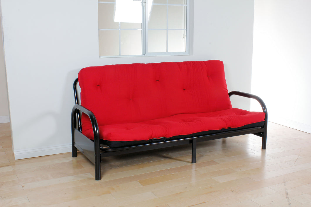 02812 Futon Mattress - Nabila Traditional Style Red and Black Finish 8