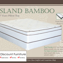 "844 Maxim Island Bamboo Euro Pillow Top Pocket Coil 13"" Queen Mattress"