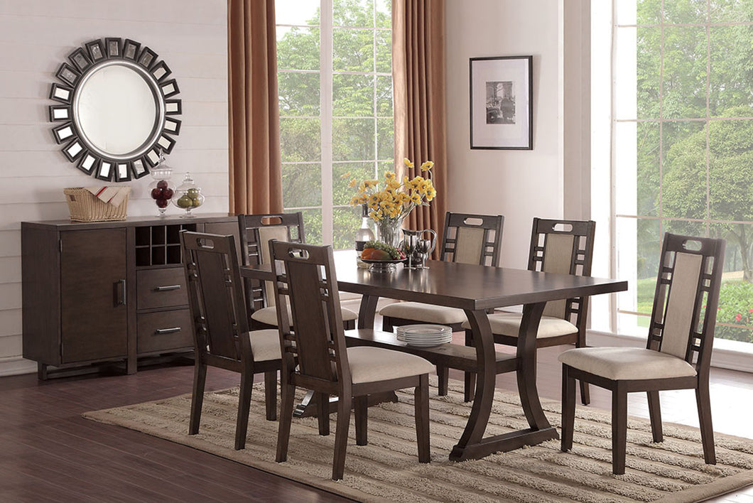 F2379 - Dining Table with 6 Chairs
