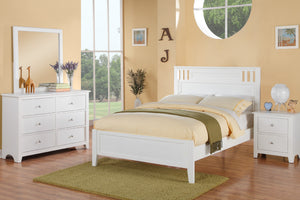 F9123T Claire White Finish Twin Bed