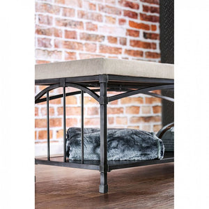 CM-BN6255 - Itzel Open Shelf Storage Bench