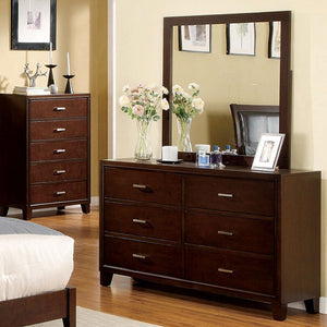 CM7068 - Enrico Brown Cherry Queen Platform Bed