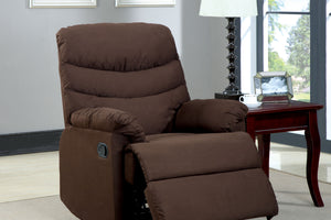 CM-RC6927DK Recliner Chair - Pleasant Valley Dark Brown Microfiber Recliner