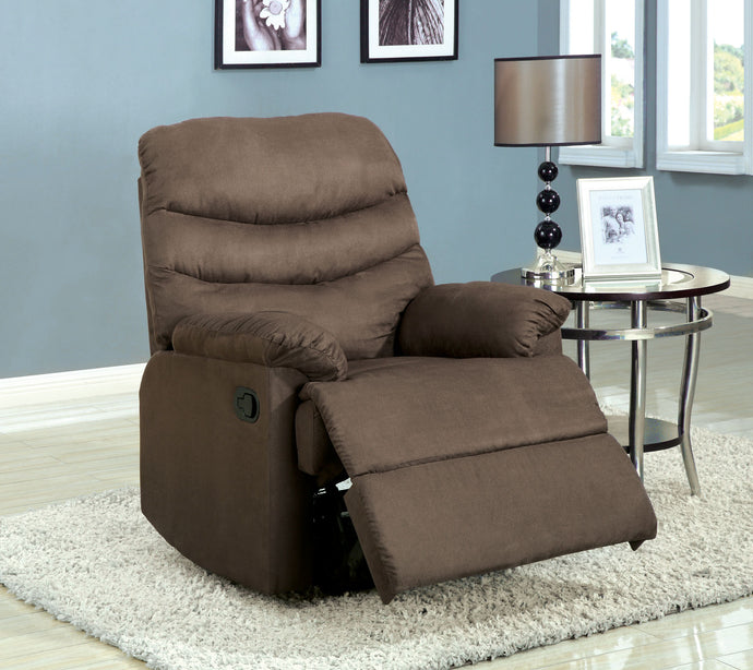 CM-RC6927GY Recliner Chair - Pleasant Valley Light Brown Microfiber Recliner