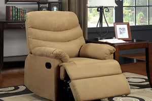CM-RC6927LB Recliner Chair - Pleasant Valley Tan Finish Microfiber Recliner