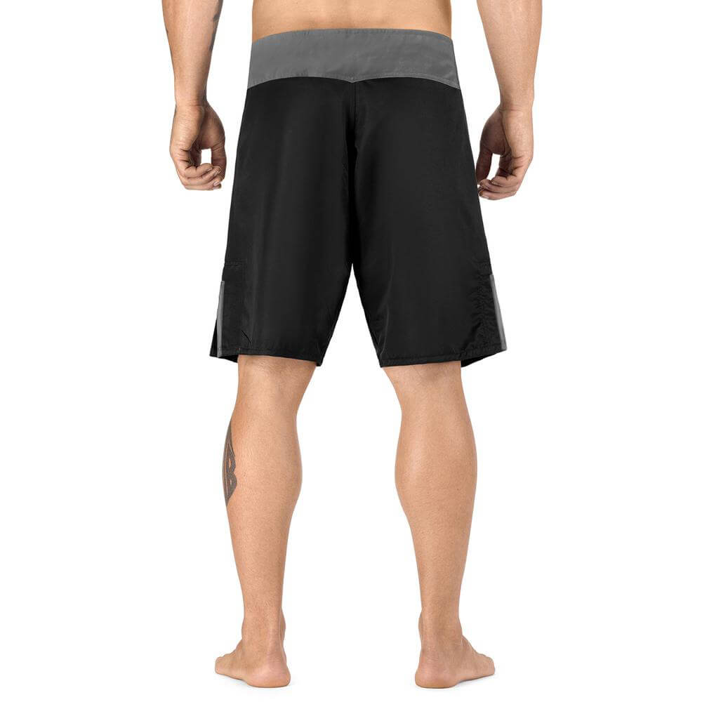 Elite Sports Black Jack Series Black/Gray Wrestling Shorts