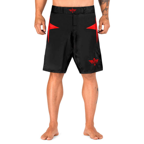 Elite Sports Star Series Sublimation Black/Red Training Shorts