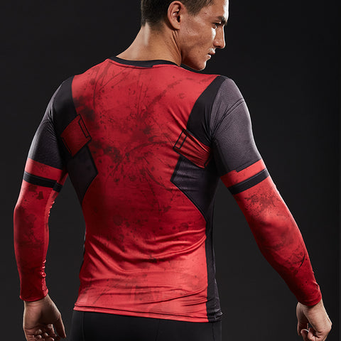 Image of Deadpool  long-sleeved compression T-Shirt