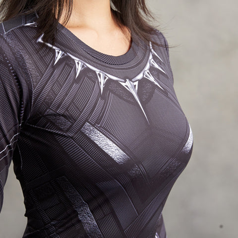 Image of Black Panther Compression Shirt For Ladies