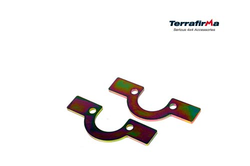 FRONT COIL SPRING RETAINING PLATES