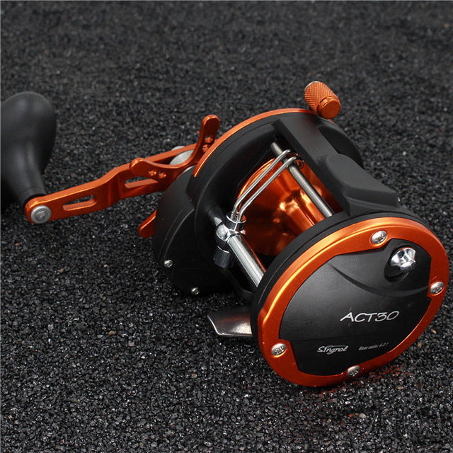 Stealth 3BB+1RB Plastic Body Bait Casting Carp Fishing Reel High Speed Baitcasting Pesca 6.2:1 Lure Reel