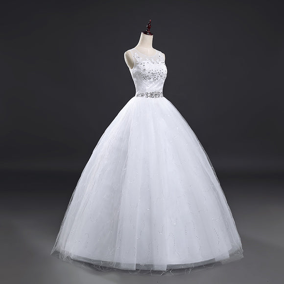Elegant Sequiened Lace Ball Gown