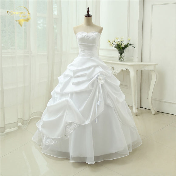 Fabulous A-Line Wedding Gown