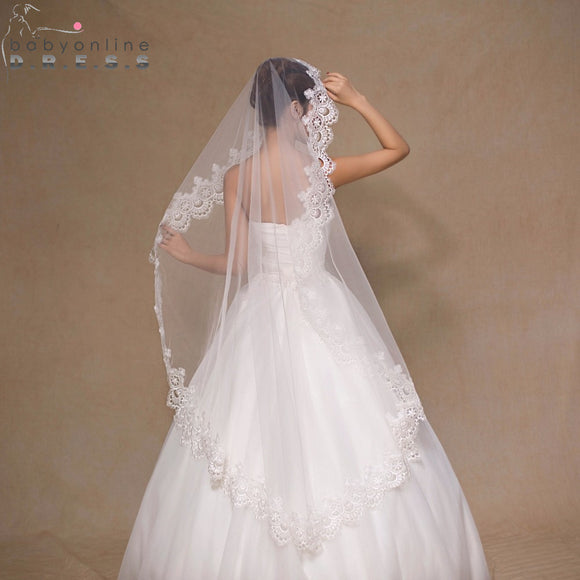 Voile Mariage 1.5M White Ivory Tulle Short Wedding Veil