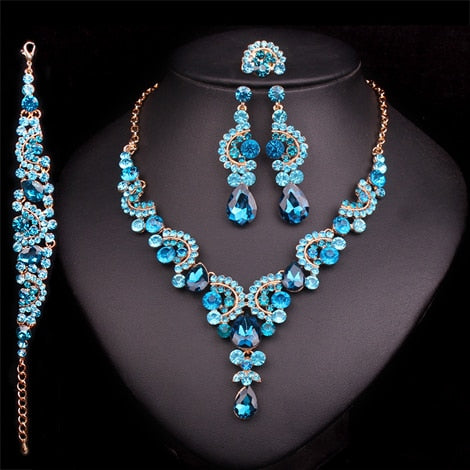 Indian Crystal Wedding Jewelry Sets
