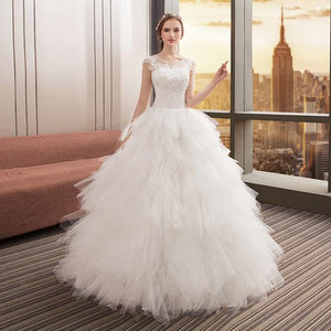 Chic Featherlike Wedding Ball Gown