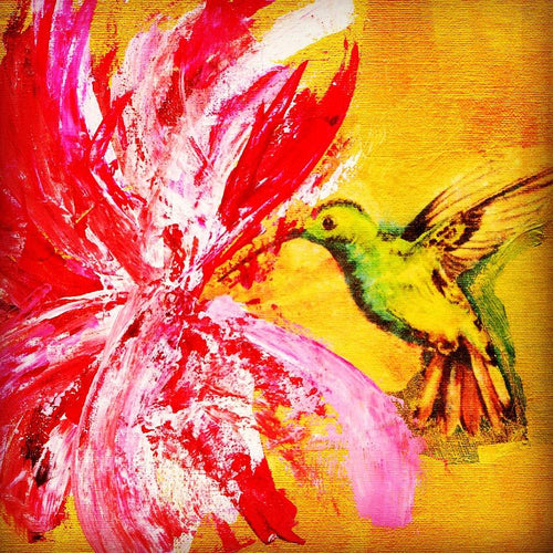 Hummingbird and Hibiscus 2