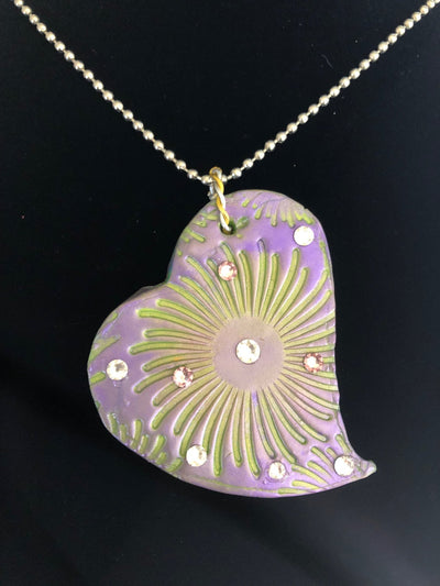 Wearable Art - Large Heart Pendant -Love5