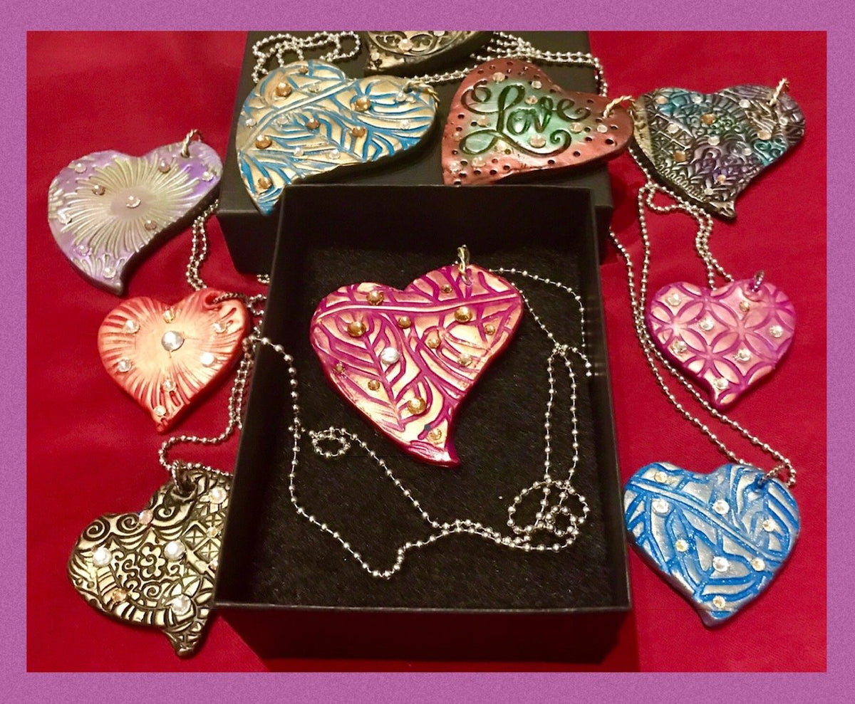 Wearable Art - Medium Heart Pendant -Love8