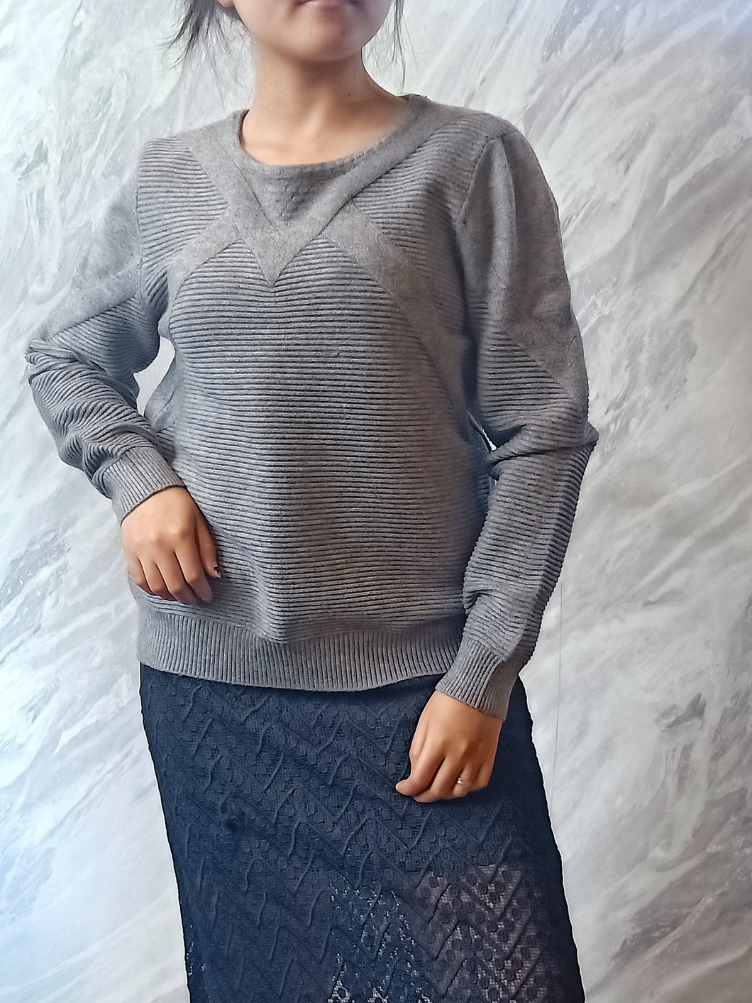 ELE-0308 Pull over top grey