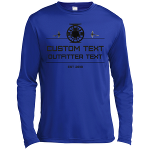 Fishing Reel Custom Wicking LS Tee