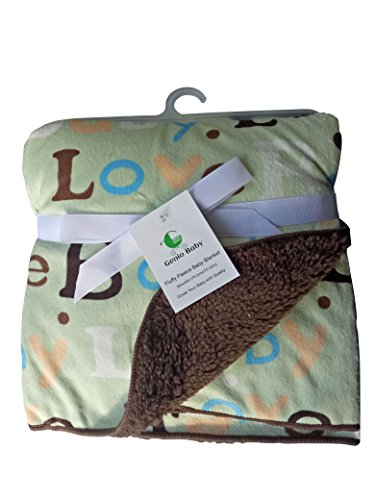 Sherpa Fleece Baby Blankets Unisex Plush 30 X 40 Soft- Perfect For Swaddling And Strolling- Fluffy For Boys And Girls By Genio Baby (Brown)